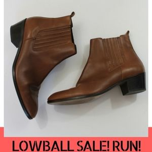 LOWBALL SALE! J. CREW brown chelsea booties